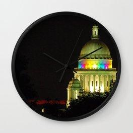 RI State House Pride Wall Clock