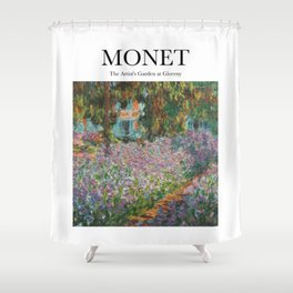 Monet - The Artist's Garden at Giverny Shower Curtain