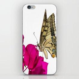 Swallowtail Butterfly On Bougainvillea iPhone Skin