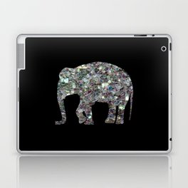 Sparkly colourful silver mosaic Elephant Laptop & iPad Skin