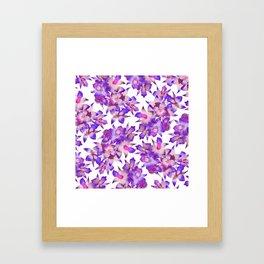 Vintage Floral Violet Framed Art Print