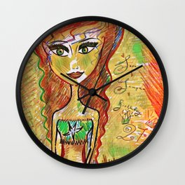 """Life Should Not Only Be Lived, It Should Be Celebrated"" Osho Wall Clock"