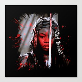 Michonne The Walking Dead Start to Finish Canvas Print