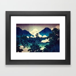 Under the Rain in Doyi Framed Art Print