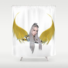 Billie Eilish Artwork With Wings Shower Curtain
