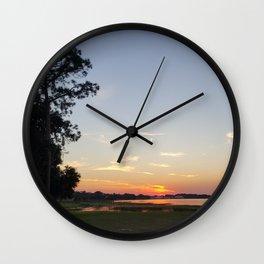SunsetbytheLake Wall Clock