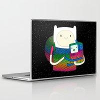 bmo Laptop & iPad Skins featuring BMO & Finn Fan Art by Luna Portnoi