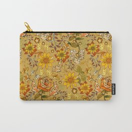Rose vintage inpsired retro, warm colors 70s, boho Carry-All Pouch