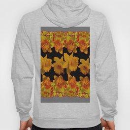 GOLDEN DAFFODILS GARDEN IN GREY-BLACK ART DESIGN Hoody