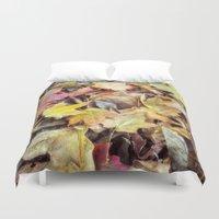 blanket Duvet Covers featuring autumn blanket by Bonnie Jakobsen-Martin