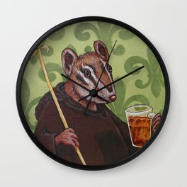 Chip Monk Beer Wall Clock