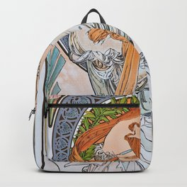 Alfons Mucha - For Art, Painting - Digital Remastered Edition Backpack