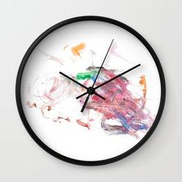 Pink Swirly 1 Wall Clock