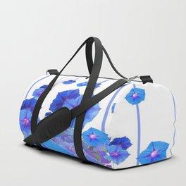 BABY BLUE MORNING GLORIES RAIN ABSTRACT ART Duffle Bag