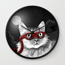 Mr. Meowgi Wall Clock