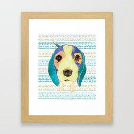 Beach Dog  • Camilo -Beagle Framed Art Print