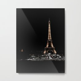 Gold Eiffel Tower Metal Print