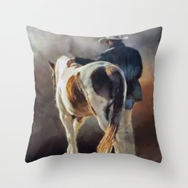 Cowboy Blues Throw Pillow