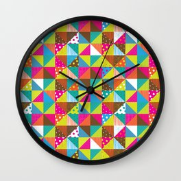 Crazy Squares Wall Clock