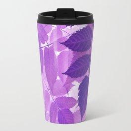 Ultra Violet Purple Leaves Travel Mug