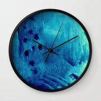 monster Wall Clocks featuring monster by Bunny Noir