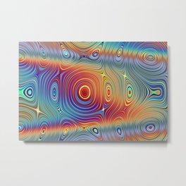 Marble Lava 38 magic fluid digital Hi Res Metal Print