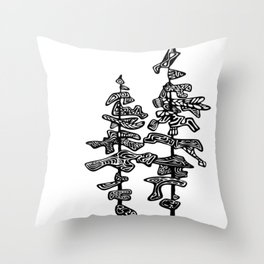 Northern Pines Throw Pillow
