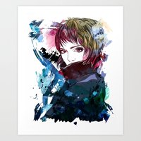 Mysterious girl Art Print
