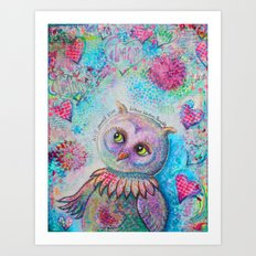 Will Yourself Wise, Witness Winding Thoughts Art Print