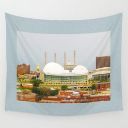 Kansas City Kauffman Center for the Performing Arts Tilt Shift Photograph Wall Tapestry