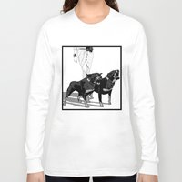 rottweiler Long Sleeve T-shirts featuring Fashion Rottweiler  by Gregory Casares