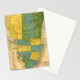 Vintage Map of Charleston SC (1883) Stationery Cards