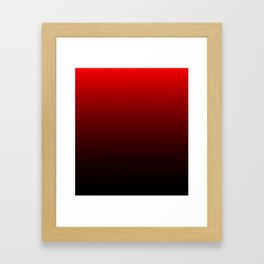 Red and Black Gradient Framed Art Print