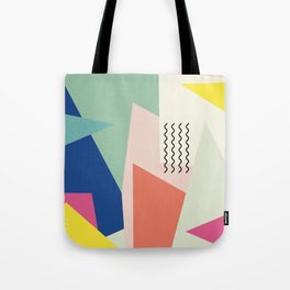 Shapes and Waves Tote Bag