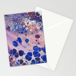 Applause  -  Colorful Fun Red Purple Blue Fluid Acrylic Paint Pour Design Art Stationery Cards