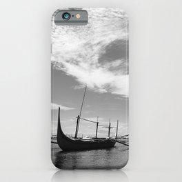 Black and white asian seascape iPhone Case