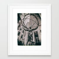 atlas Framed Art Prints featuring Atlas by JAY'S PICTURES