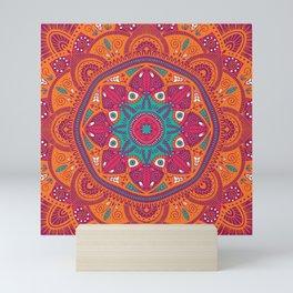 Colorful Mandala Pattern 017 Mini Art Print