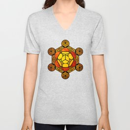 Sacred Geometry for your daily life -  Platonic Solids - ETHER COLOR Unisex V-Neck