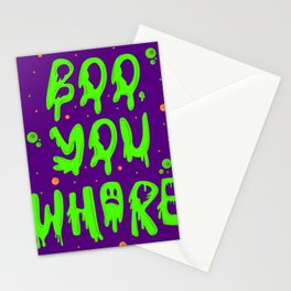 Boo you whore Stationery Cards