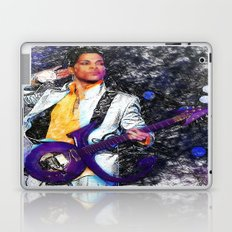 Prince Tribute with Guitar by Rafael Salazar Laptop & iPad Skin