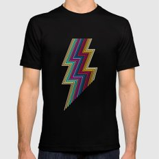 80's lightning X-LARGE Black Mens Fitted Tee