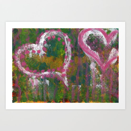 two hearts Art Print