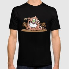 PORKY MEDIUM Mens Fitted Tee Black