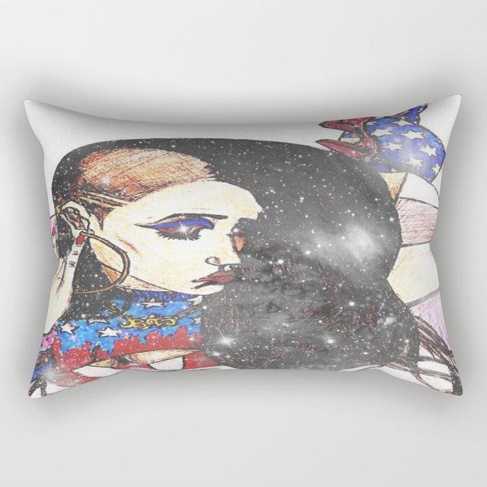 American Girl Rectangular Pillow