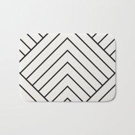 Diamond Series Pyramid Charcoal on White Bath Mat