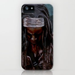 Michonne And Her Sword - The Walking Dead iPhone Case