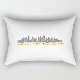 New York City Panoramic Rectangular Pillow