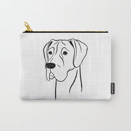 Great Dane (Black and White) Carry-All Pouch