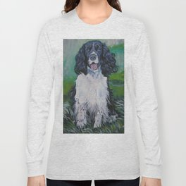 English Springer Spaniel dog art from an original painting by L.A.Shepard Long Sleeve T-shirt